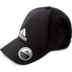 Czapka adidas - 6Pcap Ltwgt Emb S98159 Black/Black/White. Czarne czapki z daszkiem damskie marki Adidas, z materiału. Za 59,00 zł.