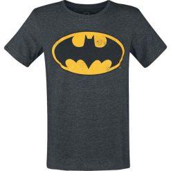 T-shirty męskie z nadrukiem: Batman Logo Vintage T-Shirt odcienie ciemnoszarego