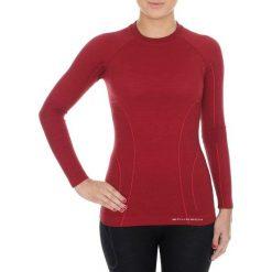 Bluzki sportowe damskie: Brubeck Koszulka damska z długim rękawem Active Wool burgundowa r. XL (LS12810)