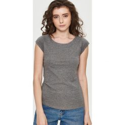 T-shirt Basic - Szary. Szare t-shirty damskie marki Sinsay, l. Za 9,99 zł.