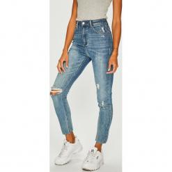 Tally Weijl - Jeansy. Czerwone jeansy damskie skinny marki TALLY WEIJL, l, z dzianiny, z krótkim rękawem. Za 169,90 zł.