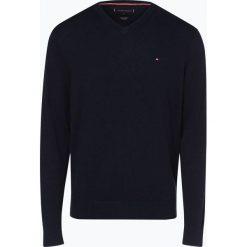 Tommy Hilfiger - Sweter męski z dodatkiem kaszmiru, niebieski. Czarne swetry klasyczne męskie marki TOMMY HILFIGER, l, z dzianiny. Za 449,95 zł.