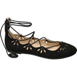 Baleriny damskie ażurowe: baleriny damskie Graceland czarne
