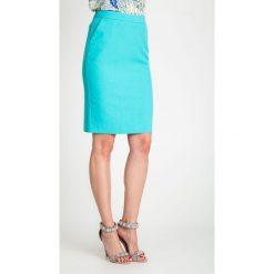 Spódnice wieczorowe: Klasyczna turkusowa spódnica z kieszeniami QUIOSQUE