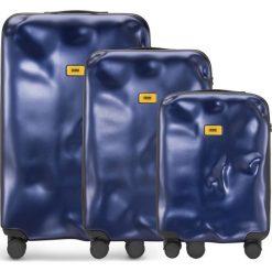 Walizki Icon w zestawie 3 el. granatowy. Niebieskie walizki marki Crash Baggage, z materiału. Za 2628,00 zł.