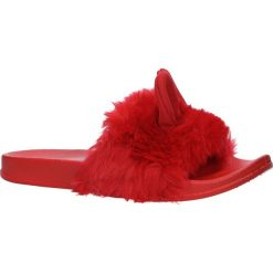 Czerwone klapki z futerkiem i uszkami Casu SAM03A. Czerwone klapki damskie Casu. Za 39,99 zł.