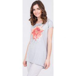 Bluzki damskie: Długa bluzka z kwiatem QUIOSQUE