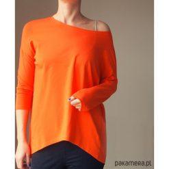 Podszyta pomarańczowa bluzka rękaw 3/4. Brązowe bluzki damskie marki Pakamera, z bawełny. Za 139,00 zł.