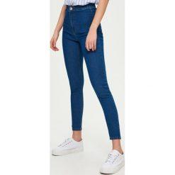 Jeansy skinny high waist - Niebieski. Niebieskie jeansy damskie skinny marki Sinsay, z podwyższonym stanem. Za 49,99 zł.