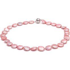 Naszyjniki damskie: Naszyjnik w kolorze różowym z pereł – (D)45 cm