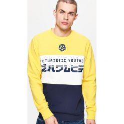 Bluza z nadrukiem - Żółty. Żółte bluzy męskie rozpinane marki Cropp, l, z nadrukiem. Za 49,99 zł.