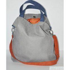 Torba hobo XXL - szarość, kobalt, pomarańcz. Szare torebki klasyczne damskie Pakamera, z syntetyku. Za 119,00 zł.