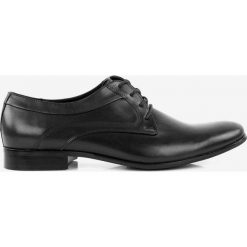 Półbuty czarne Standard. Czarne buty wizytowe męskie Badura. Za 239,99 zł.