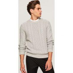 Sweter - Jasny szar. Szare swetry klasyczne męskie marki Reserved, l. Za 99,99 zł.