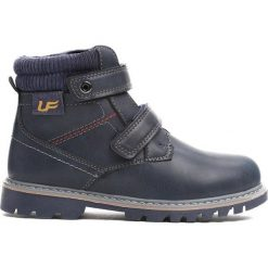 Granatowe Traperki Suburbanite. Niebieskie buty zimowe chłopięce Born2be, z materiału, z okrągłym noskiem, na zamek. Za 64,99 zł.