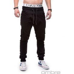 SPODNIE MĘSKIE JOGGERY P333 - CZARNE. Czarne joggery męskie Ombre Clothing. Za 79,00 zł.