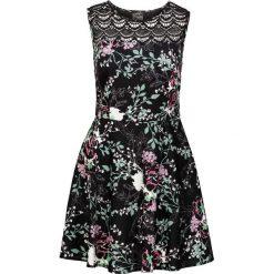Sukienki hiszpanki: Sukienka z koronkową wstawką bonprix czarny w kwiaty