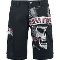 Guns N' Roses Top Hat Skull Bojówki - Cargo czarny. Czarne spodenki i szorty męskie Guns N' Roses. Za 144,90 zł.