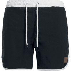 Kąpielówki męskie: Urban Classics Retro Swim Shorts Kąpielówki czarny/biały