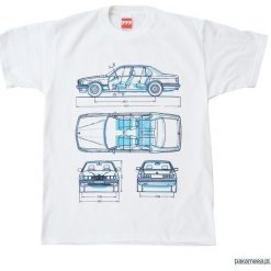 Koszulka BMW 7 OLD tshirt. Czarne t-shirty męskie z nadrukiem marki Pakamera, m, z kapturem. Za 77,00 zł.
