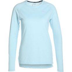 Nike Performance BREATHE TAILWIND Koszulka sportowa ocean bliss/reflective silver. Niebieskie topy sportowe damskie marki Nike Performance, xl, z bawełny. W wyprzedaży za 161,10 zł.