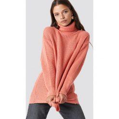 Trendyol Sweter Polo Knitted - Orange. Pomarańczowe golfy damskie Trendyol, z dzianiny. Za 100,95 zł.