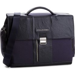 Torba na laptopa PIQUADRO - CA1045BR/BLU Granatowy. Niebieskie torby na laptopa Piquadro, z materiału. W wyprzedaży za 919,00 zł.