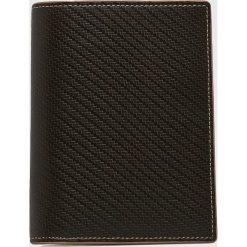 VIP COLLECTION - Portfel skórzany. Czarne portfele męskie VIP COLLECTION, z materiału. W wyprzedaży za 169,90 zł.