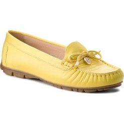 Mokasyny BALDACCINI - 802000-H Żółty. Żółte mokasyny damskie Baldaccini, ze skóry. W wyprzedaży za 199,00 zł.