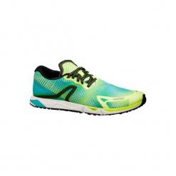 Buty do chodu sportowego RW 900 w kolorze żółto-niebieskim. Czarne buty do fitnessu damskie marki Kazar, z nubiku, przed kolano, na wysokim obcasie. Za 219,99 zł.