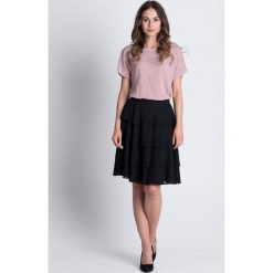 Spódniczki: Czarna spódnica w falbanki z podszewką BIALCON