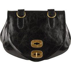 Torebki klasyczne damskie: Skórzana torebka w kolorze czarnym – 29 x 19 x 13 cm
