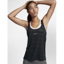Nike Koszulka damska Tank Elastka Jaq czarna r. M (898249-010). Czarne bluzki damskie Nike, m. Za 109,49 zł.