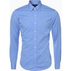 Polo Ralph Lauren - Koszula męska, niebieski. Szare koszule męskie na spinki marki Polo Ralph Lauren, l, z bawełny, button down, z długim rękawem. Za 299,95 zł.