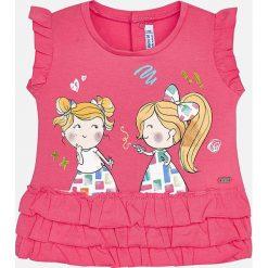 Mayoral - Top dziecięcy 68-98 cm. Różowe bluzki dziewczęce Mayoral, z aplikacjami, z bawełny, z okrągłym kołnierzem, bez rękawów. Za 64,90 zł.