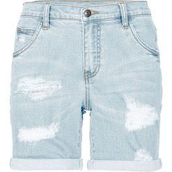"""Szorty dżinsowe bonprix jasnoniebieski """"bleached"""". Szare szorty jeansowe damskie marki Sinsay. Za 109,99 zł."""