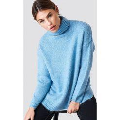 NA-KD Sweter oversize z golfem - Blue. Niebieskie golfy damskie NA-KD, z dzianiny. Za 202,95 zł.