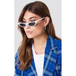 Okulary przeciwsłoneczne damskie: NA-KD Trend Okulary przeciwsłoneczne retro – White