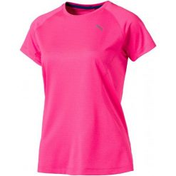 Puma Koszulka Sportowa Speed Tee W Knockout Pink Heather M. Brązowe bluzki sportowe damskie Puma, l, z materiału. W wyprzedaży za 115,00 zł.