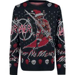 Slayer Holiday Sweater 2018 Sweter z dzianiny wielokolorowy. Czarne swetry klasyczne męskie Slayer, l, z dzianiny, z dekoltem na plecach. Za 224,90 zł.