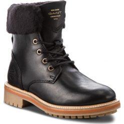Trapery GANT - Natalie 17541927 Black G00. Czarne buty zimowe damskie GANT, z materiału. Za 739,90 zł.