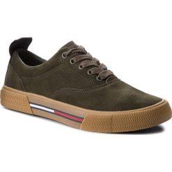 Tenisówki TOMMY JEANS - Oxford City Sneaker EM0EM00149 Forest Night 307. Zielone tenisówki męskie marki Tommy Jeans, z gumy. Za 399,00 zł.