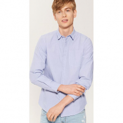 Koszula w drobną kratkę - Niebieski. Czarne koszule męskie w kratę marki KIPSTA, z poliesteru, do piłki nożnej. Za 79,99 zł.
