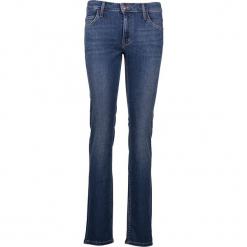 """Dżinsy """"Sissy"""" - Slim fit - w kolorze niebieskim. Niebieskie spodnie z wysokim stanem marki Mustang, z aplikacjami, z bawełny. W wyprzedaży za 173,95 zł."""