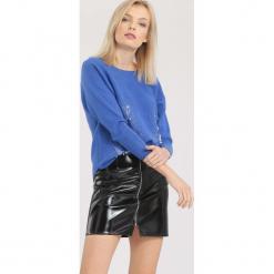 Niebieski Sweter Beyond Doubt. Niebieskie swetry klasyczne damskie marki other, na jesień, l. Za 74,99 zł.