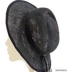 Kapelusze damskie: kapelusz ażurowy czrny grafit