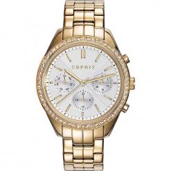 Zegarek kwarcowy w kolorze biało-złotym. Żółte, analogowe zegarki damskie Esprit Watches, ze stali. W wyprzedaży za 363,95 zł.