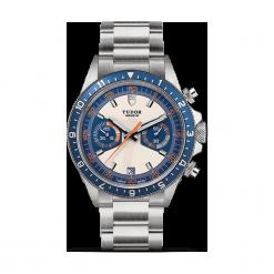 ZEGAREK TUDOR HERITAGE BLUE CHRONO 70330B 95740 OPAL/BLUE IND W. Niebieskie zegarki męskie TUDOR, ze stali. Za 18190,00 zł.