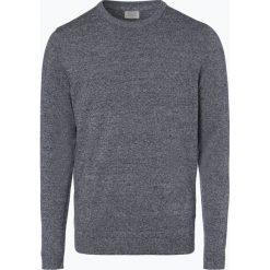 Jack & Jones - Sweter męski – Jjebasic, niebieski. Czarne swetry klasyczne męskie marki Jack & Jones, l, z bawełny, z okrągłym kołnierzem. Za 69,95 zł.
