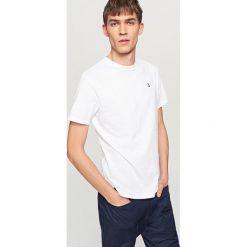 T-shirty męskie: T-shirt z kontrastową kotwicą – Biały
